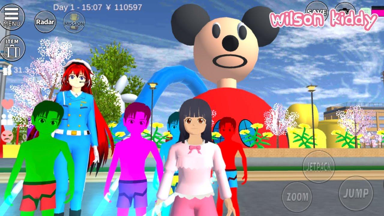 Download Yuta Mio Bayi Hulk Ke Rumah Miki Mouse Klub House 😱😲 | Sakura Simulator | Game Wilson Kiddy