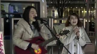 2017年2月6日に武蔵小金井駅前で行われた、2017年3月に小金井市議選にチ...