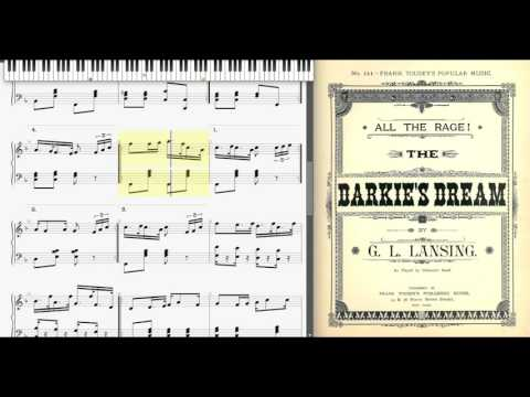 Early Ragtime : The Darkie's Dream by G. Lansing, 1891