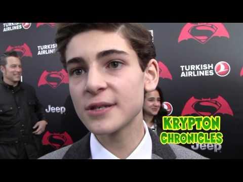 BATMAN V SUPERMAN - NYC PREMIERE - Interview with David Mazouz (Gotham TV Series).