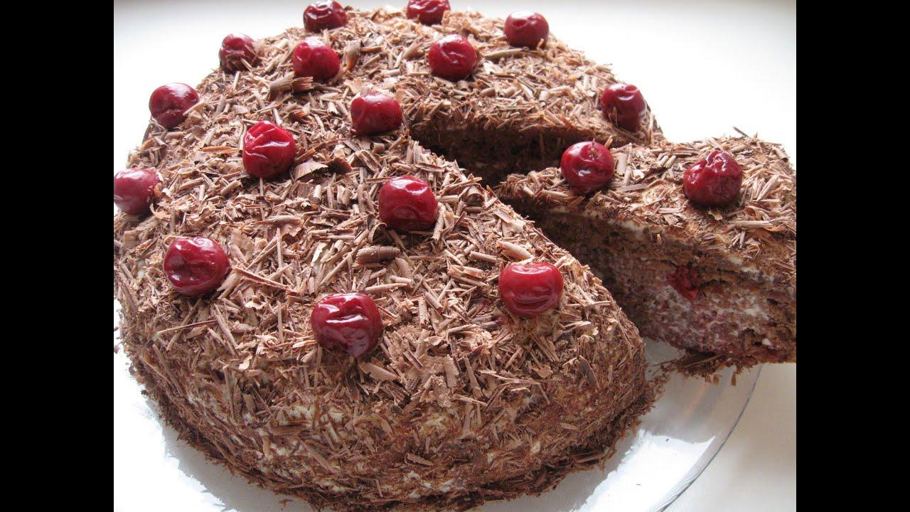 Смотреть видео торт пьяная вишня