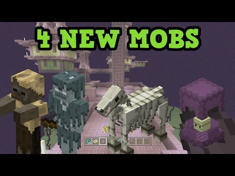 Minecraft Xbox One / PS4 - 4 New Mobs & How To Find Them