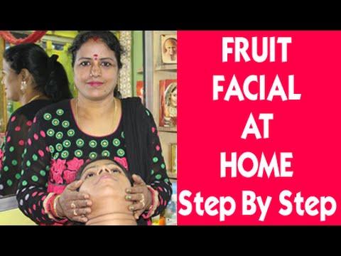 Simple Fruit Facial Massage | Easy Steps for Fruit Facial Massage