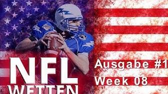 NFL American Football Wett Vorhersage Tipps & Wettquoten - Week 08
