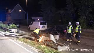01.07.2019 - Bil kørt ind i autoværnet - Gentofte