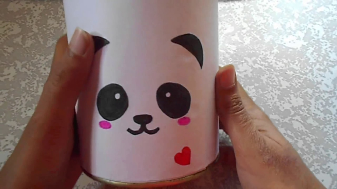 How to make piggy bank out of old container diy best for How to open a tin piggy bank
