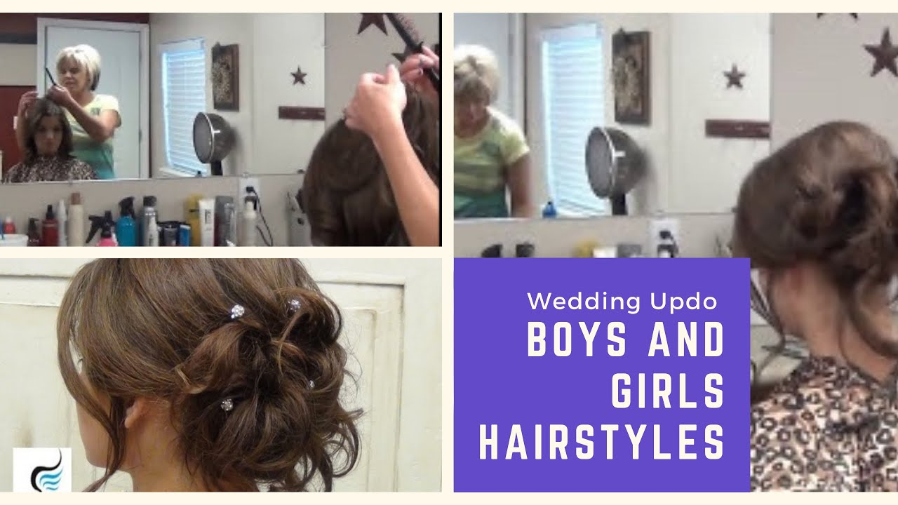 Soft Curled Updo For Long Hair Prom Or Wedding Hairstyles YouTube