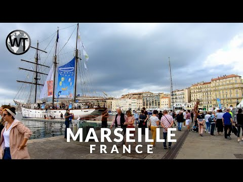 Old Port of Marseille (Vieux-Port) - 🇫🇷 France - 4K Walking Tour