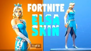 FORTNITE ELSA SKIN, FROZEN, Saison 7