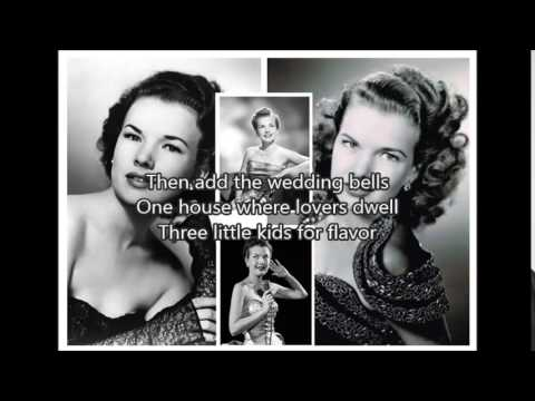 GALE STORM - Memories Are Made Of This(1955)with lyrics