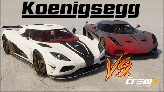 The Crew 2 - Salt Flats Drag Race - Koenigsegg Regera vs. Agera R