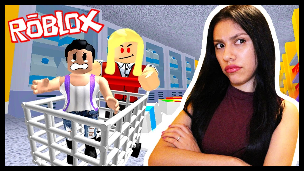 This Is My Moms Fault Roblox Escape The Supermarket Youtube
