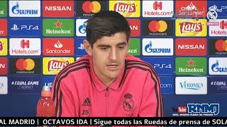 Ajax - Real Madrid Rueda de prensa de COURTOIS Champions (12/02/2019)