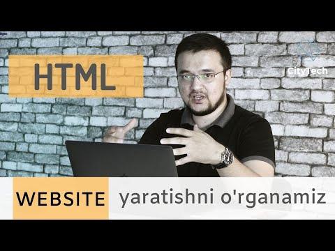 1 Soatda HTMLni O'rganamiz
