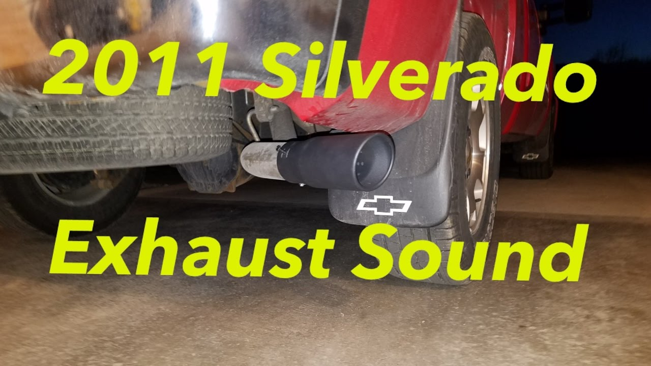 2011 chevy silverado exhaust sound stock exhaust with resonator tip awesome sound  [ 1280 x 720 Pixel ]