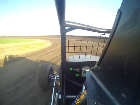 Tony Rost USAC Non Wing Qualifying @ Junction Motor Speedway in car camera