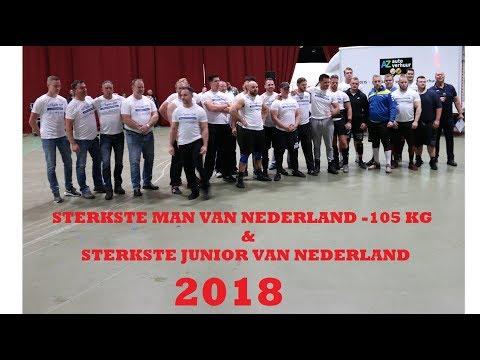 STERKSTE MAN  Tot 105 Kg & STERKSTE JUNIOR VAN NEDERLAND 2018:.