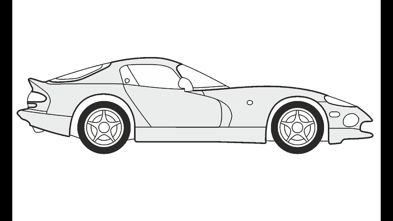 How To Draw A Chrysler Viper Gts Как нарисовать