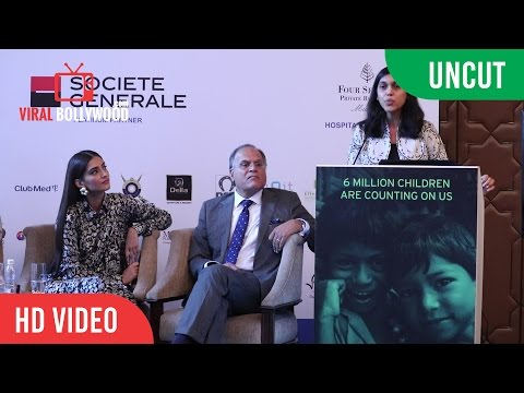 UNCUT  - Sonam Kapoor Address Media to Support Fight Malnutrition in the Country | Fight Hunger