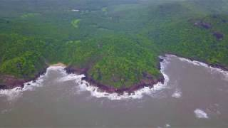 Its like a private beach - Butterfly Beach, Goa, India - Drone View
