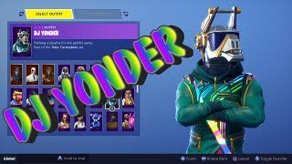 Fortnite New Season 6 Battle Pass DJ YONDER Skin + The New Emotes