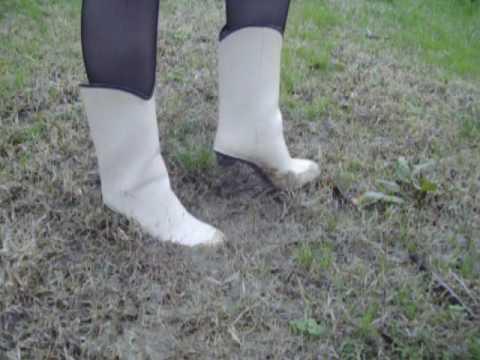 high heeled rubber boots absatz gummistiefel | youtube.c