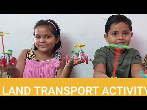 LAND TRANSPORT ACTIVITY/MEANS OF TRANSPORT/STRAW ENGINEER/GAME /KIDS ACTIVITY/mastifromsisandbro/