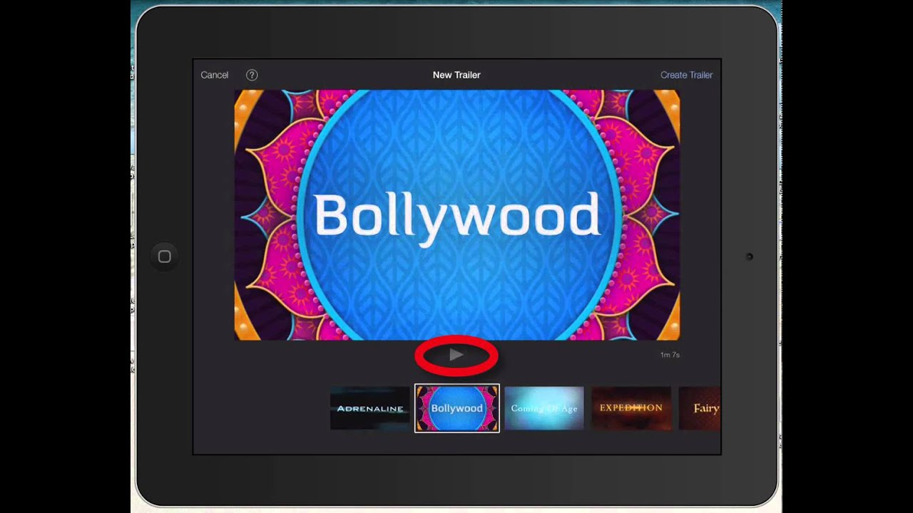 Selecting a trailer template on iMovie 2 for iPad - YouTube