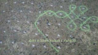 Simple Melika Muggu with 19 dots | big sikku kolam | dot rangoli designs