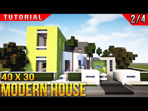 Minecraft Modern House Tutorial part 2 of 4