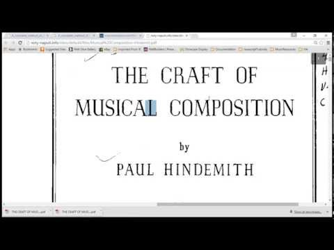 Musical Composition by Hindemith 001