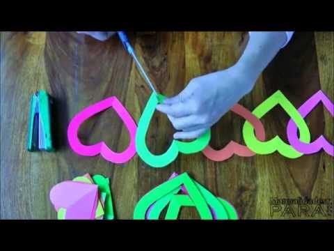 Une jolie guirlande de coeurs youtube - Comment faire une belle creche de noel ...