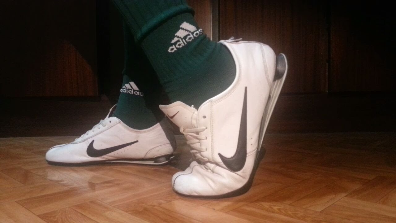 pretty nice ca7ad b6833 nike shox rivalry white and adidas green soccer socks