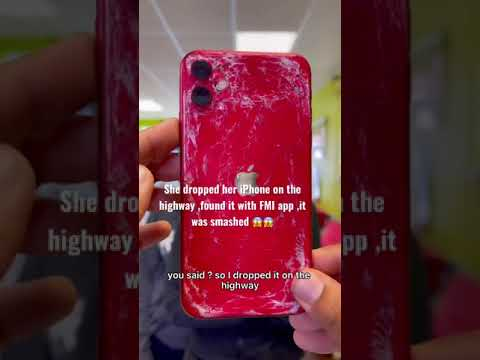 IPhone got destroy on highway 😱😱 #apple #shorts #ios #iphone #highway #iphone13 #samsung #androi