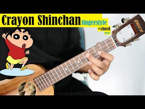 Tutorial Ukulele - CRAYON SHINCHAN Opening (Chord + Fingerstyle)