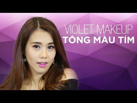 MAZ 12 | Makeup VIOLET - TÔNG MÀU TÍM - Ngọc Thảo | Lady9 | Hướng Dẫn Trang Điểm