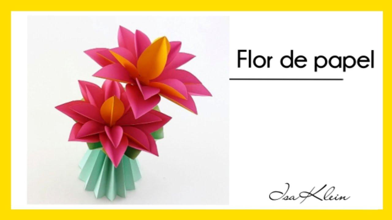 flor de papel f u00e1cil - easy paper flower