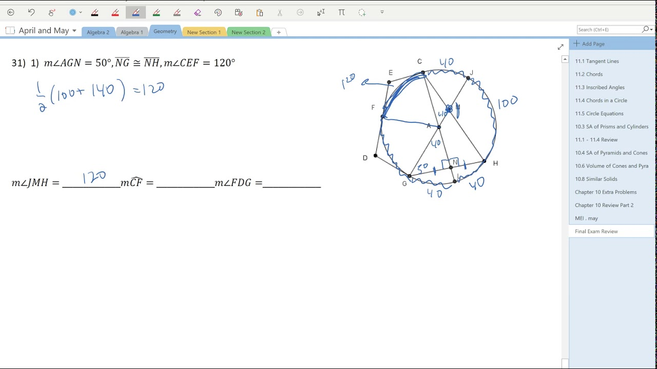 Geometry Final Exam Review Part 3 #31 - YouTube