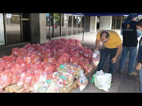 A domicilio le recogen la donación para 'Risaralda sin hambre'