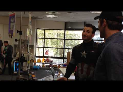 Meeting Chris Pratt and Chris Evans at Seattle Children's Hospital 2015