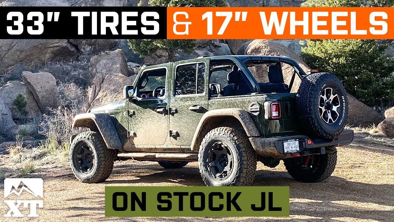 Stock JL Wrangler | 33x11R17 | 17x8 Wheels - W&T Fitment