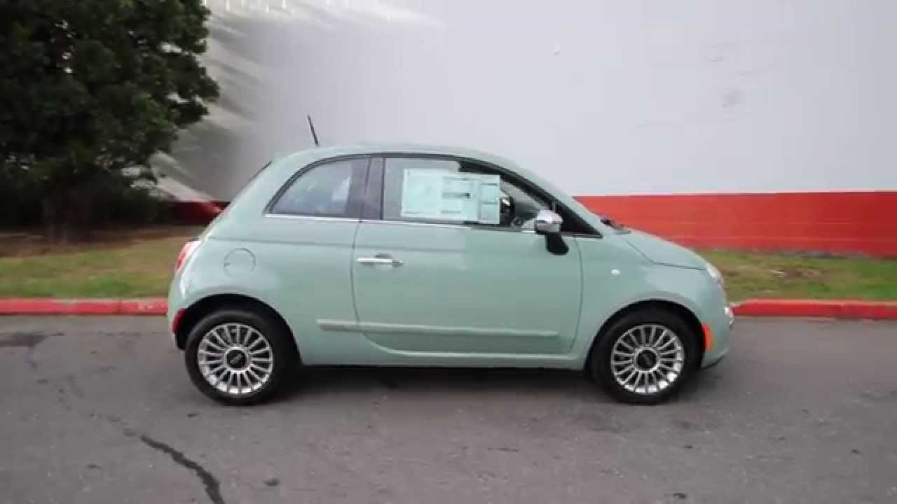 2015 fiat 500 lounge verde chiaro ft528474 redmond seattle youtube. Black Bedroom Furniture Sets. Home Design Ideas