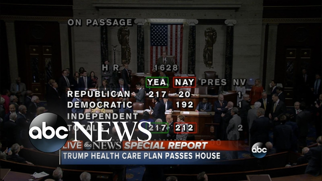 House Republicans pass bill to replace and repeal Obamacare