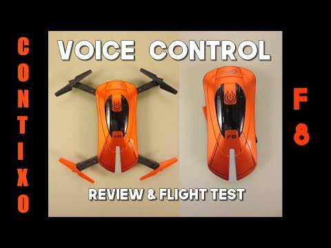 Contixo F8 Pocket Drone Review - Fly it Using Your VOICE - It Actually Works!