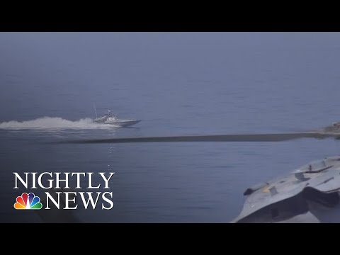 Video Shows Iranian Boat Harassing U.S. Navy Ship | NBC Nightly News