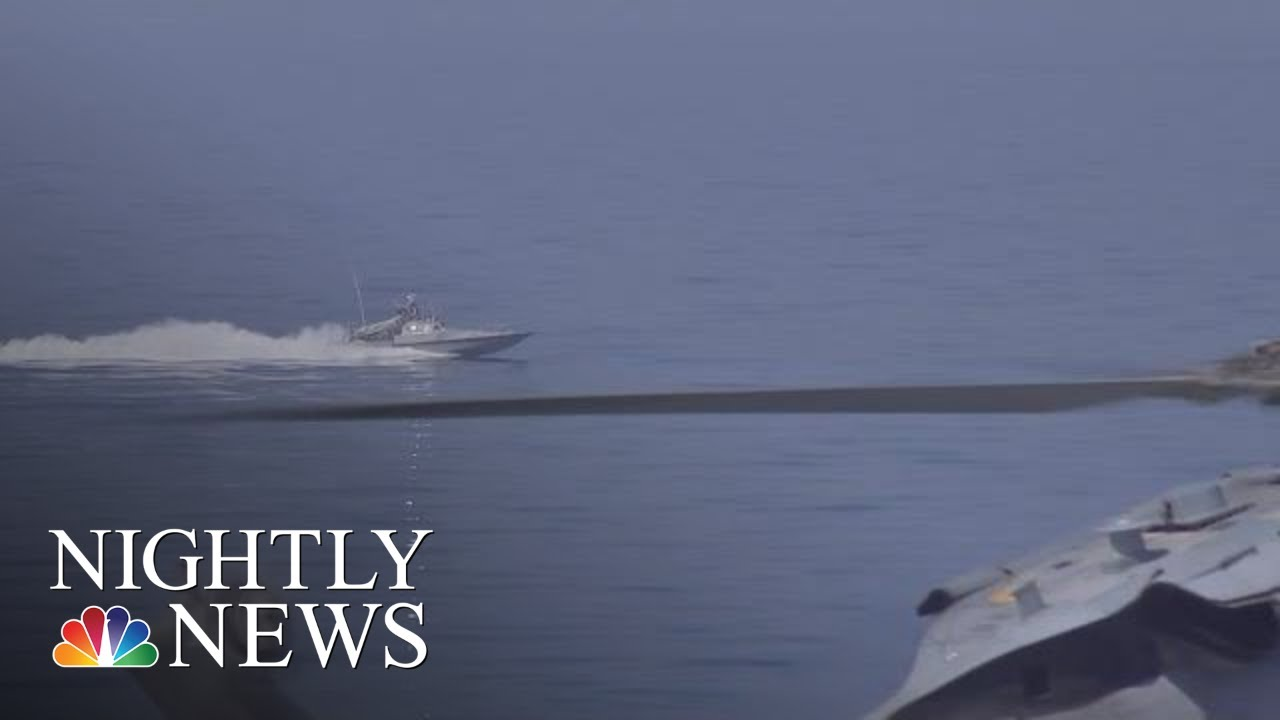 Video Shows Iranian Boat Harassing U S  Navy Ship | NBC Nightly News