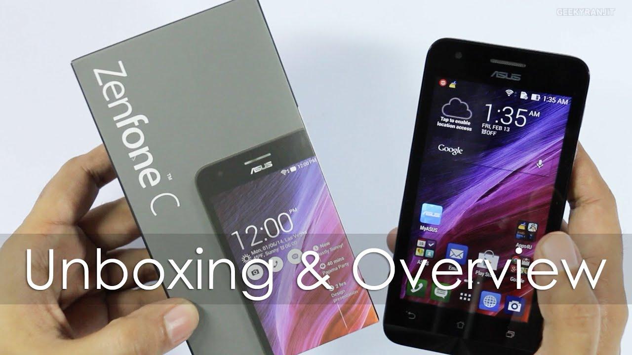 Asus Zenfone C Unboxing Hands On Overview
