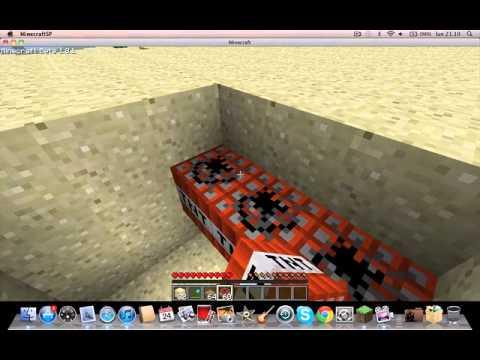 minecraft trappola x animali e mob con tnt