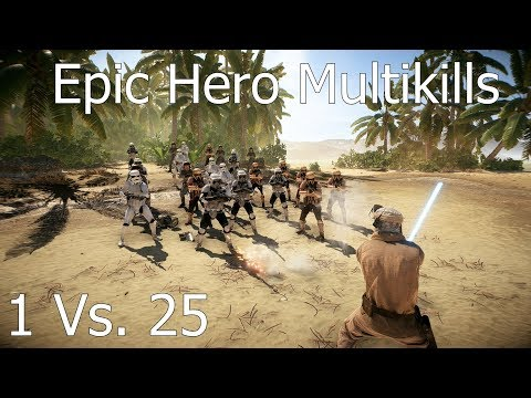 1 Vs. 25 EPIC HERO MULTIKILLS - Star Wars Battlefront 2 #1 thumbnail