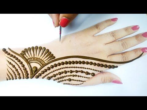 Eid Special Mehndi from Gol Tikki & dots - गोल टिक्की से आसान मेहँदी लगाना सीखे -Stylish Mehndi 2020